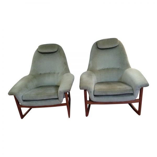 Magnificent Mid Century Modern Lounge Chair Rocking Chair A Pair Inzonedesignstudio Interior Chair Design Inzonedesignstudiocom